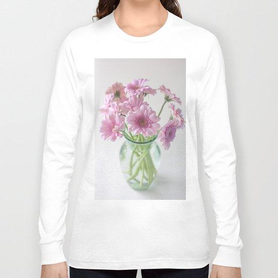 Pink Gerberas In A Vase  Long Sleeve T-shirt