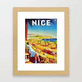 Vintage Nice Italy Travel Framed Art Print