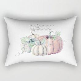 welcome autumn orange pumpkin Rectangular Pillow