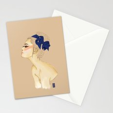 Lady in Blue Stationery Cards