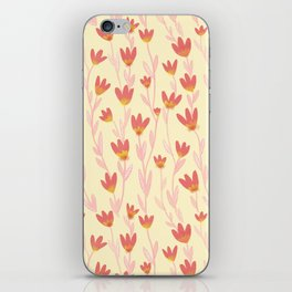 Red Tulips Pattern iPhone Skin