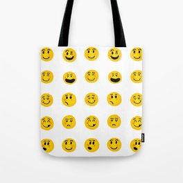 Cute Emoji pattern Tote Bag