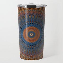 Western Inspired Mandala Design Travel Mug