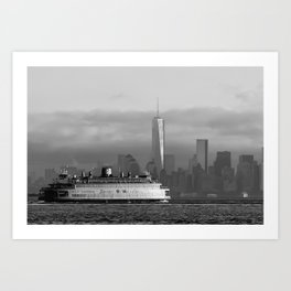 Ferry & Freedom Tower Art Print