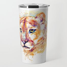 Cougar Head Travel Mug