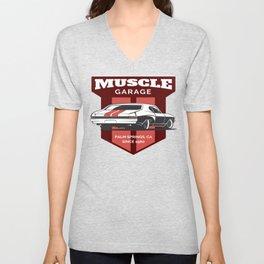 Muscle Car Garage Unisex V-Neck