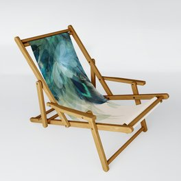 Beautiful Peacock Feathers Sling Chair