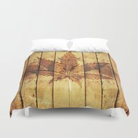 weed Duvet Covers featuring Weed & wood by grafik ' prod