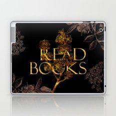 Read Books gold typography Laptop & iPad Skin
