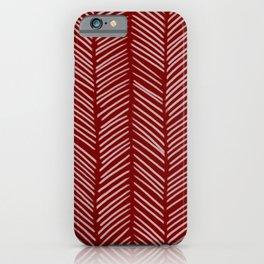 Crimson Herringbone iPhone Case