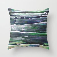 moss Throw Pillows featuring moss by Artwork by Brie