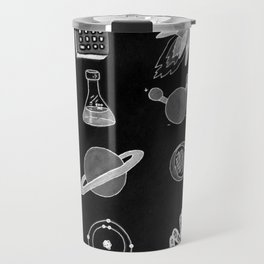 Science in Black and White Travel Mug