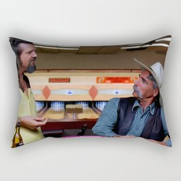 Jeff Bridges & Sam Elliot @ The Big Lebowski (Joel and Ethan Coen - 1988) Rectangular Pillow