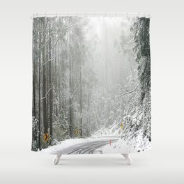 Down the Summit Shower Curtain