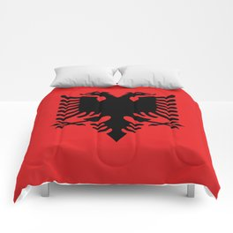Flag of Albania - Authentic version Comforters