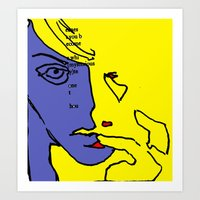 lip Art Prints featuring lip finger by Keith Cameron