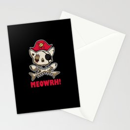 Pirate Of The CAribbean Cat Stationery Cards