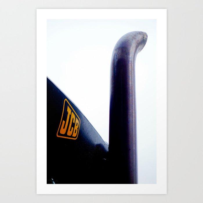Construction 04 - Nessie | JCB Exhaust Pipe Art Print