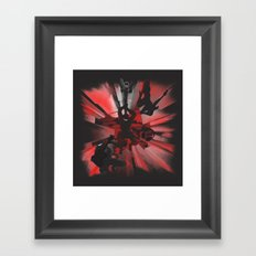 Ninja Rocks Framed Art Print