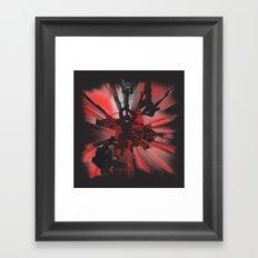 Ninja Rocks Framed Art Print
