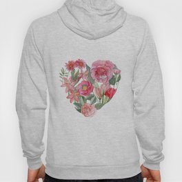 heart and flower mean love Hoody