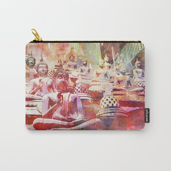 Colorful Buddha  Buddhism Artwork Carry-All Pouch