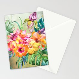Tropical Hibiscus Garden Stationery Cards