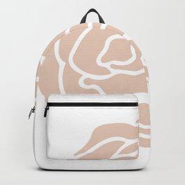 Rose in Vintage Rose Pink on White Backpack