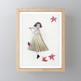 Picture Five: The Flute Framed Mini Art Print