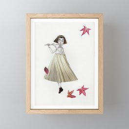 Picture Five: The Flute Framed Mini Art Print