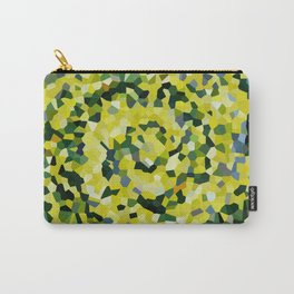 Yellow and Blue Crystallized Swirls Carry-All Pouch