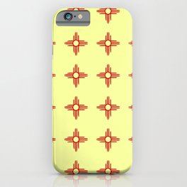 flag of new mexico hand drawn 6 iPhone Case