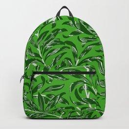 Bright Green Leaves Botanical Leaves Pattern Backpack