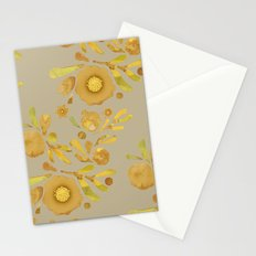 Granada Floral in Henna on brown Stationery Cards