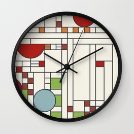 Frank lloyd wright pattern S02 Wall Clock