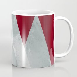 SILVER MOUNTAINS UNDER A BLOOD RED WINTER SKY Coffee Mug