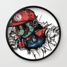 zombie mario Wall Clock