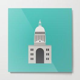 Texas State Capitol Graphic Art - Austin, Texas Metal Print