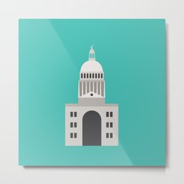 Texas State Capitol Graphic Art - Austin, Texas Metal Print