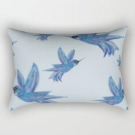 blue hummingbirds Rectangular Pillow