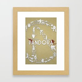 Welcome to Pandora Framed Art Print