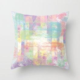 Happy pastel colors Throw Pillow