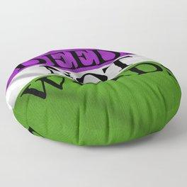 DEEDS NOT WORDS Floor Pillow