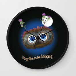 Wee Haggis by Night Wall Clock