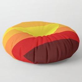 Sunset Stripe Floor Pillow