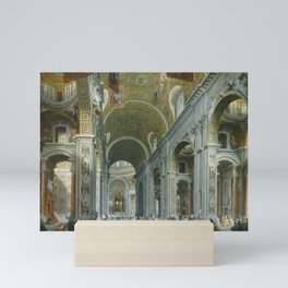 Interior of Saint Peter's, Rome by Giovanni Paolo Panini Mini Art Print