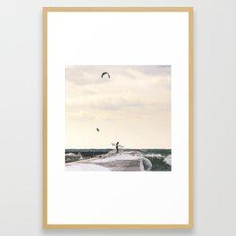Winter on Lake Michigan | Frankfort, Michigan | John Hill Photography Framed Art Print