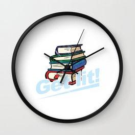 Get Lit Books Wall Clock