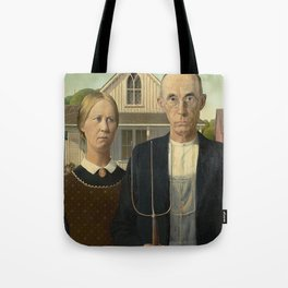 AMERICAN GOTHIC - GRANT WOOD Tote Bag
