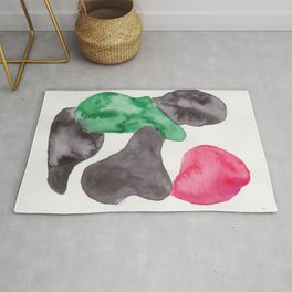 21 | 190724 | Shapes Studies Watercolour Painting Rug